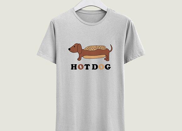 חולצה Hot Dog - לבן