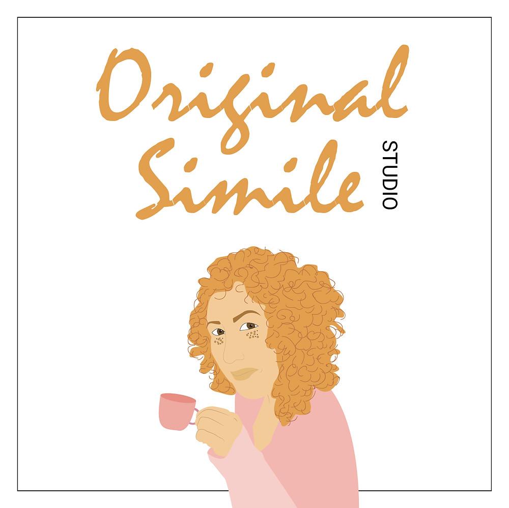 עיצוב לוגו בהשראת הצבע 'קורל חי'  עבור Original Simile Studio - חנות מוצרי בית מקוריים