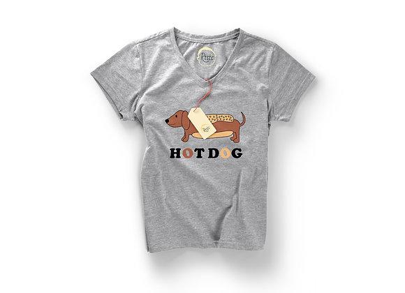 חולצה Hot Dog - אפור - נשים