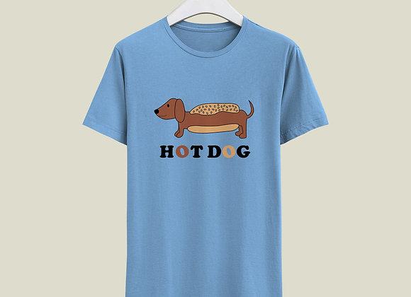 חולצה Hot Dog - תכלת