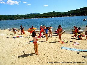 Campamento playa de Madrid San Juan vela