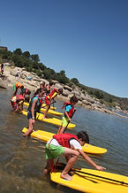 Campamento ingles paddle surf