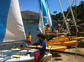 semana azul programa de día dormir salida actividades acuáticas vela piragua Madrid Burguillo viaje fin de curso