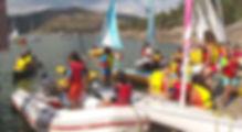 actividades acuaticas vela piragua canoa remo pantano burguillo madrid avila colegio jornada nautica