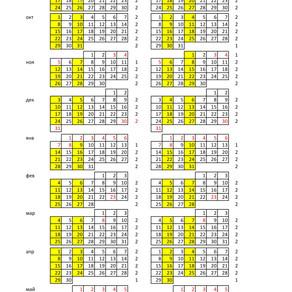 График занятий 2018\2019 учебный год.