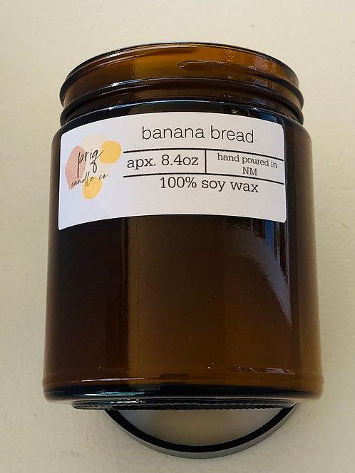 Priq Candle Co. Banana Bread Candle