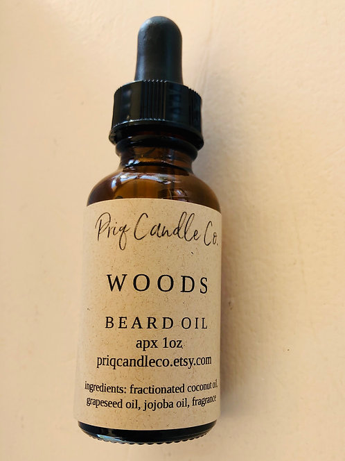 "Priq Candle Co. ""Woods"" Beard Oil"