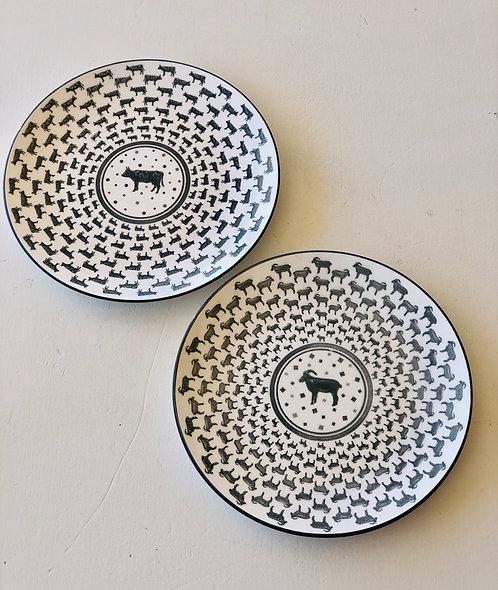 Stoneware Farm Animal Plate