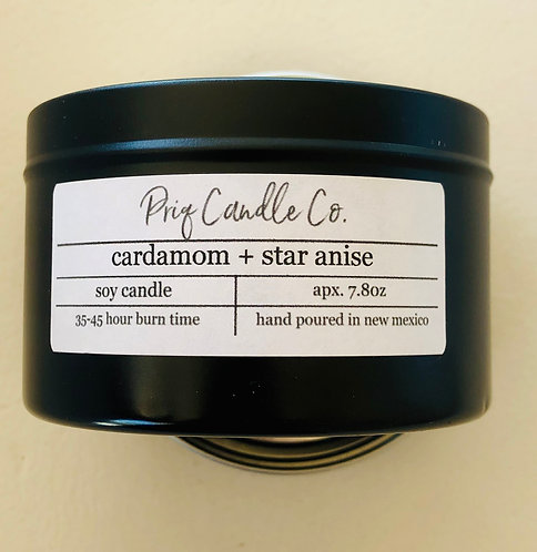 Priq Candle Co. Cardamom-Star Anise Candle