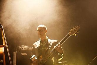 Dibbe van Laarhoven bassist The Kyteman Orchestra @ Tivoli, Utrecht (NL)