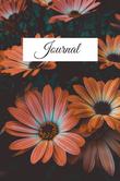 Orange Flowers Daily Journal