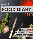 365 Day Food Diary - 8x10 - 365 pages +