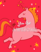 You Are Awesome Unicorn Journal for Kids