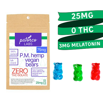 Isolate CBD Gummies for Sleep (PM, Vegan)