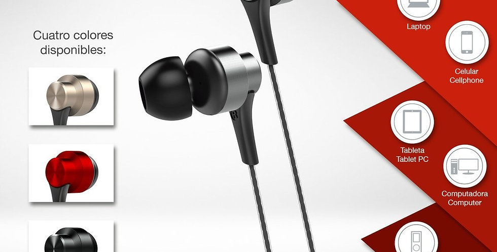 Audífonos con cable AIWA