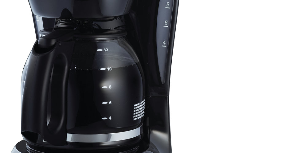 Cafetera 12 tazas, con filtro permanente