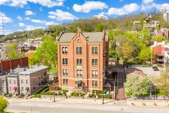 Aerial - Downtown Cincinnati, OH