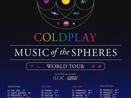 Coldplay anuncia su regreso a México en gira mundial 2022