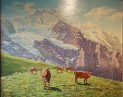 Tableau vue des alpes