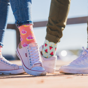 Simple socks, walking with a purpose