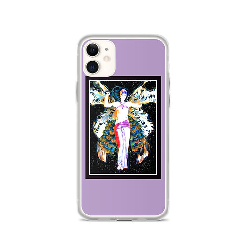 Purple iPhone Case Midnight Sky BOHO Hippie Fairy Art