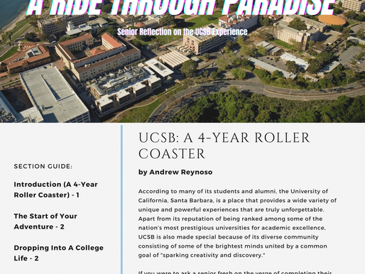 A Ride Through Paradise - Senior Reflection on the UCSB Experience