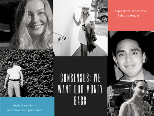 CONSENSUS: WE WANT OUR MONEYBACK
