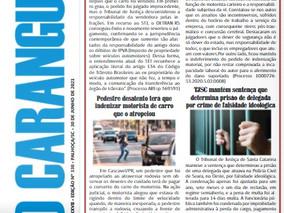 Coluna publicada no jornal O Caraguejo em 30/06/2021