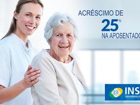 Idoso com doenças incapacitantes tem direito de receber adicional de 25% no pagamento da aposentador