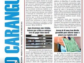 Coluna publicada no jornal O Caraguejo em 30/04/2021