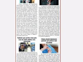 Coluna publicada no jornal O Caraguejo em 28/01/2021