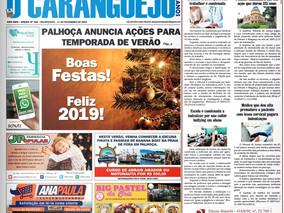 Coluna publicada no jornal O Caraguejo em 17/12/2018