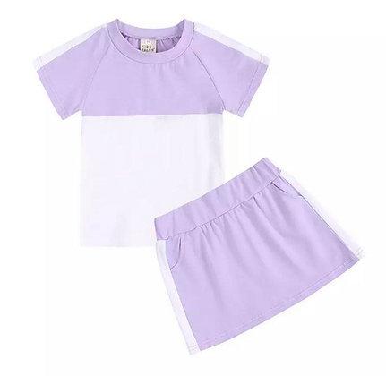 Lilac Skirt Set