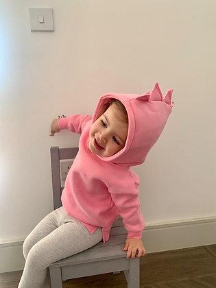 Bright Pink Dinosaur Hoodie
