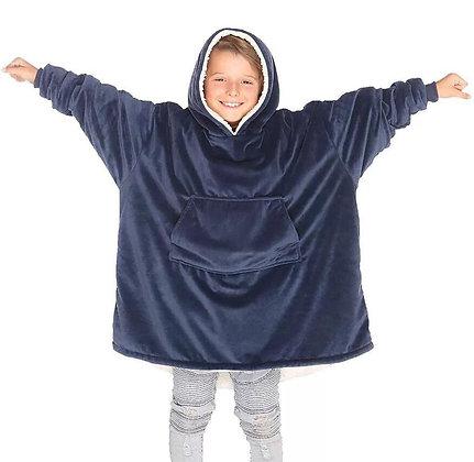 Kids Navy Oversized Hoodie