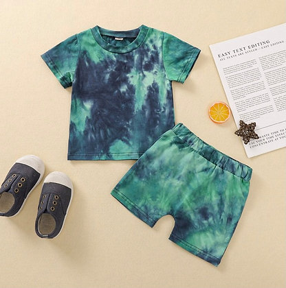 Green & Blue Tie Dye Set