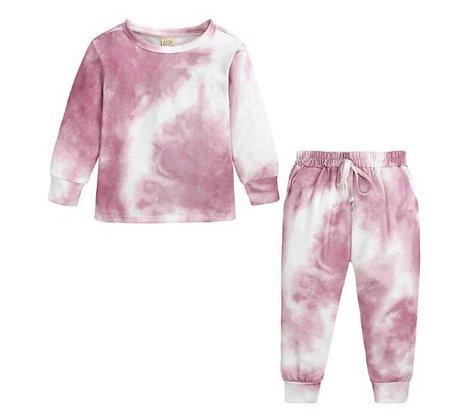 Ladies Pink Dye Lounge Set