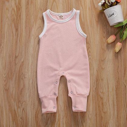Pink/White Romper