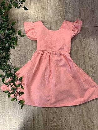 Pink Tie Back Dress