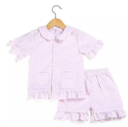 Pink Striped Summer Pyjama