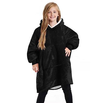 Kids Black Oversized Hoodie