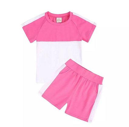 Bright Pink 2 Piece Short Set