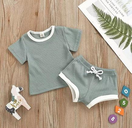 Mint Shorts and T-Shirt Set
