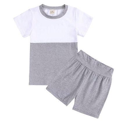 Kids Tales Grey Short Set