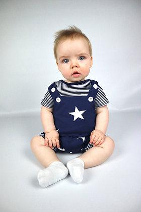 Navy Shorts Stars and Strips Set
