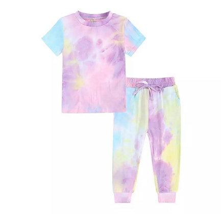 Pastel Tie Dye Trouser Set