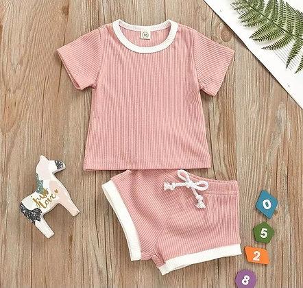 Pink Shorts and T-Shirt Set