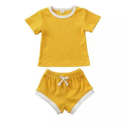 Yellow Shorts and T-Shirt Set