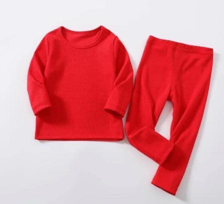 Mens Red Ribbed Lounge Wear