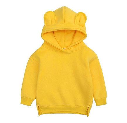 Adult's Yellow  Bear Hoodie